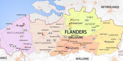 Belgien Karte Umriss.Karte Von Belgien Karte Von Belgien Und Den Angrenzenden Gebieten